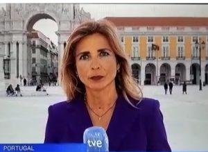 A Correspondente da Televisão Espanhola é Belén Lorente